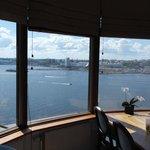 Utsikt från restaurangen vi åt lunch på, magnifikt!