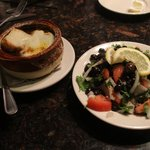 French Onion Soup and Mediterranean Salad