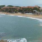 Vista panorámica desde playa tangoluna
