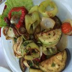 Delicious grilled veggie platter