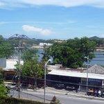 dal mio balcone vista sul lago di chaweng