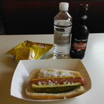 Hot dog and Root beer