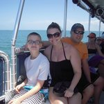 Our family enjoying the boat ride