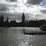 Big Ben and Houses of Parliament along Thames River
