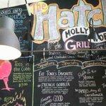 Wal Menu - All Written by Hand on Chalkboard