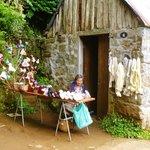 local craftswoman on levada