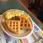 Omelet & half waffle combo