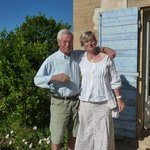 Our wonderful hosts, Jacques and Vicenta