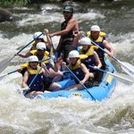 White water rafting on the Upper Pigeon River with Jason