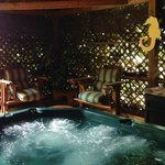 The Inclosed Jacuzzi with seating area