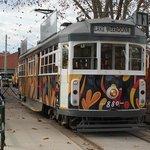 Ex Melbourne Tram outside the Depot