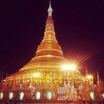The stunning main golden pagoda