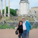 Me & Hubs during our tour of the Coliseum