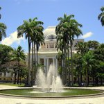 The Palace of Justice, fountain and Palmtrees