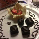 Chocolates and strawberries for our honeymoon, as a courtesy from the hotel.