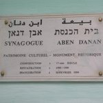 Sign in the synagogue