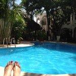 beautiful pool and courtyard