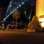 Night out along the harbor bridge