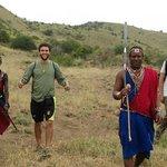 Walking safari with warriors