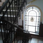 The lovely staircase and windows.