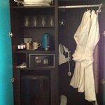 Wardrobe with complimentary mini bar