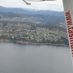 Taroona from the air. Yes, that's where Princess Mary of Denmark went to school.