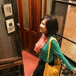 The antique lift (like in Harry Potter movie)