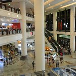 Quite crowded, many malls