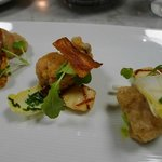 veal sweetbreads with scallops
