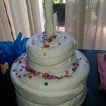 Towel birthday cake