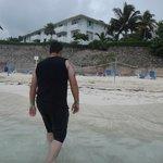disfrutando de la playa