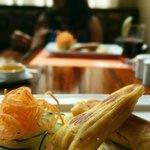Humitas/empanadas appetizer