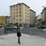 San Jacopino Square, is where the bus stop, 2 mins walking to B&B da Mila