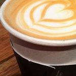 Vanilla Latte with latte art!