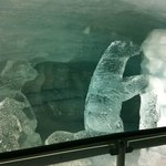 Ice sculptures at the top