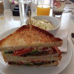 BLT with cole slaw - yum!!