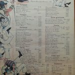 Un vecchio menu anni 70 di Zia Teresa
