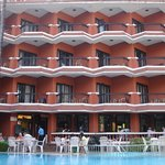 View of the Hotel from the swimming pool