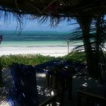 Our little beach structure where we had more romantic beach lunches