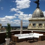 Roof terrace at Vincci Via Madrid