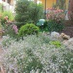 L'ingresso fiorito al giardino del B&B