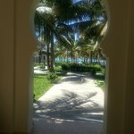 View as you walk into hotel grounds