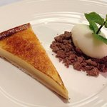 Sicilian lemon tart with crumbs and ice cream