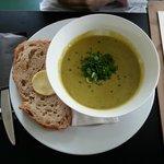 Super zuppa ai piselli e spezie.