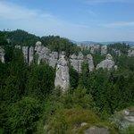 Rock formation a kilometer off Hruba Skala castle.
