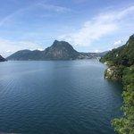 Blick von Gandria nach Lugano
