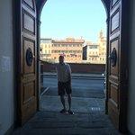 Huge front entrance doors