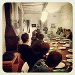 Sala de catering en jornada enogastronomica