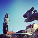 Lindwurm und Herkules am Neuen Platz :-)