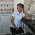 Asli our lovely waitress and barmaid